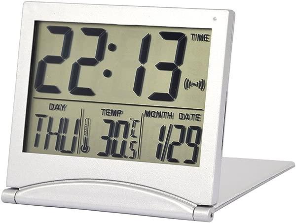 BleuMoo 新款书桌数字液晶温度计日历闹钟带柔性盖
