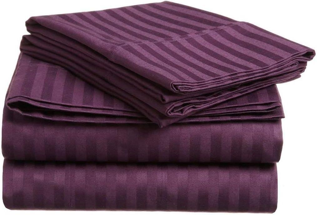 550-Thread-Count Pure Atlanta Mall Supima ELS Cotton Set Sheet Fitt 1 Outlet SALE 6-PCs