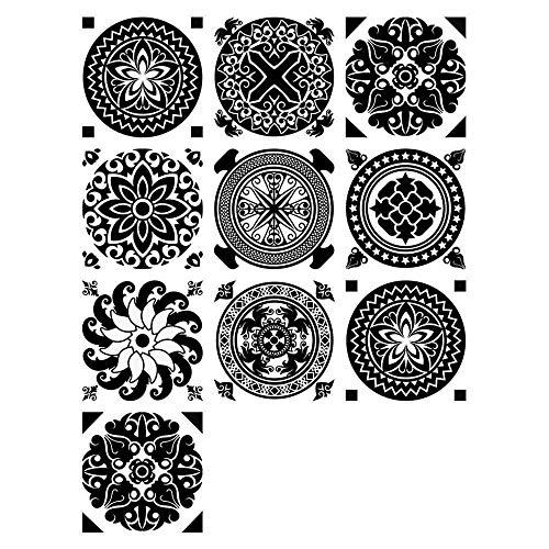 Pegatinas De Pared, Pegatinas De Azulejos Autoadhesivos ,Etiqueta Engomada Del Azulejo Decorativos Adhesivos Para Sala Cocina ,Para La Decoración Casera15*15Cm*10Pcs