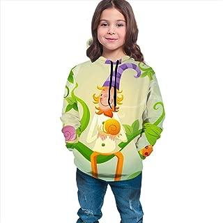 Boys Girls Hoodies Pullover Unisex 3D Clown Vine Snails Print Sweatshirts Hooded with Pocket 6-16Y