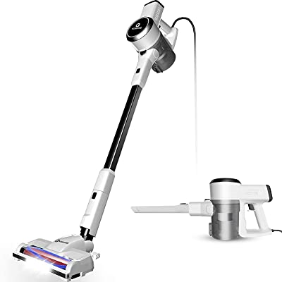 Vacuum Cleaner, 18Kpa Super Suction Vacuum Cleaner, 4 in 1 Corded Stick Vacuum, Easy Empty Dust Cup, Lightweight& Versatile, Handheld Vacuum with Upgraded LED Motorized Brush for Carpet&Hardwood(S182)