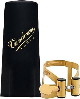 Vandoren LC57AP M/O Ligature and Plastic Cap for Alto Saxophone; Aged Gold Finish