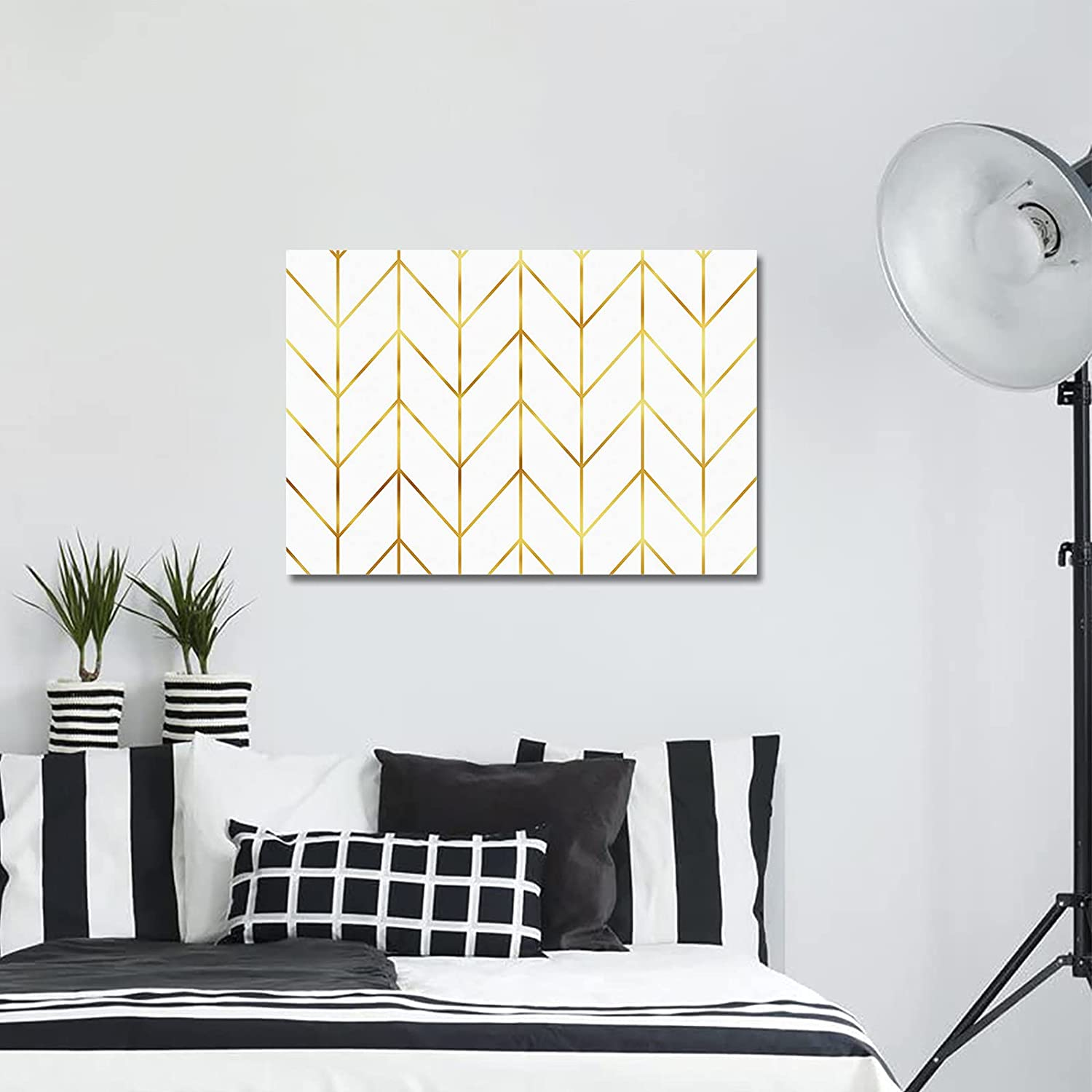 Wall Art Max 85% OFF Canvas Painting Artwork Pa Bedroom Max 69% OFF Yellow for Geometric