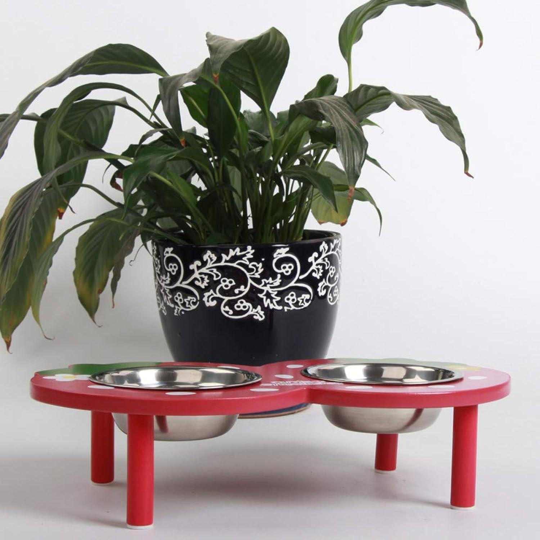 DGLS Pet bowl cat dog bowl dish eating bowl supplies dog food bowl dog pot large dog food bowl rice bowl,Big red