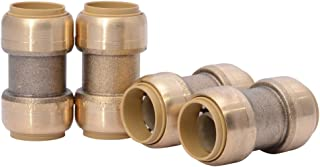 SharkBite 3/4-Inch Straight Coupling, Push-to-Connect, PEX, Copper, CPVC, 4 Count