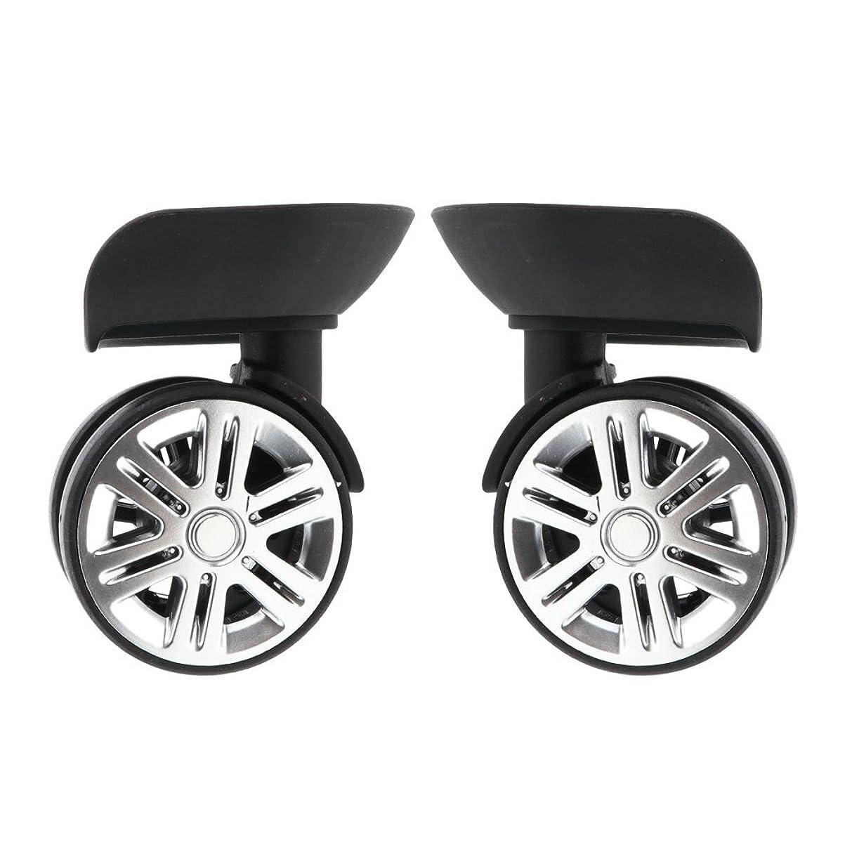 数値オリエント眠っている交換キャスター スーツケース用 ホイール 1ペア 回転 荷物 静音 外径60mm 車輪部品 全2サイズ選択 - 小さいサイズ
