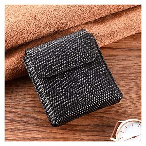 JDDRCASE Männer Mobiltelefon Echtes Leder Taille Tasche Gürtel Clip Pouch Business Leder Cover für Motorola RAZR 5G 2020 (6,2 Zoll) (Farbe : Black C)