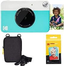 Kodak Printomatic Instant Camera (Blue) Basic Bundle + Zink Paper (20 Sheets) + Deluxe Case + Comfortable Neck Strap AMZRO...