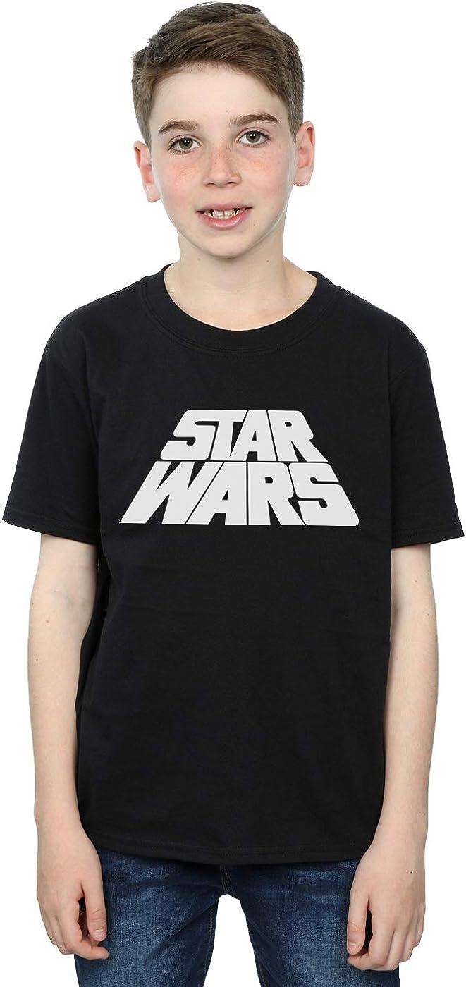STAR WARS Boys Retro Logo T-Shirt 7-8 Years Black