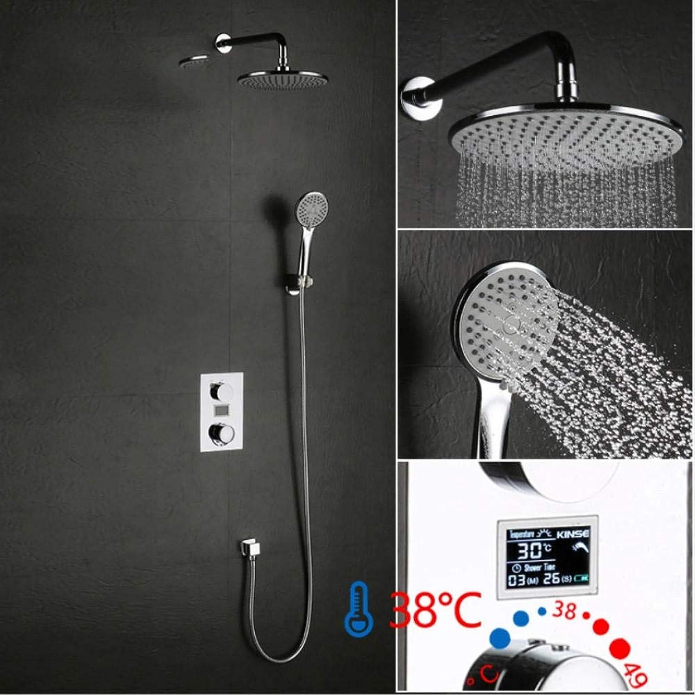 Gorheh Luxus Duschwasser Dynamische Digitale Intelligente Anzeige Duscharmatur Led Digitalanzeige Thermostat Duscharmatur