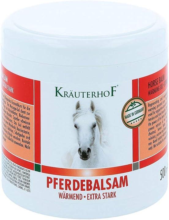 Balsamo per cavalli, extra forte, 500 ml - kräuterhof 2197