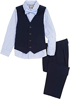 Kenneth Cole Boys 4-Piece Formal Vest Set Business Suit Vest