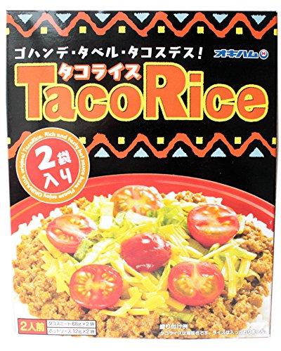 タコライス 2食入りS×4箱 オキハム ご家庭で簡単にピリッと旨いタコスミートが食欲をそそる沖縄の名物料理 お土産にも