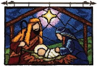 Herrschners Stained Glass Nativity Latch Hook Kit