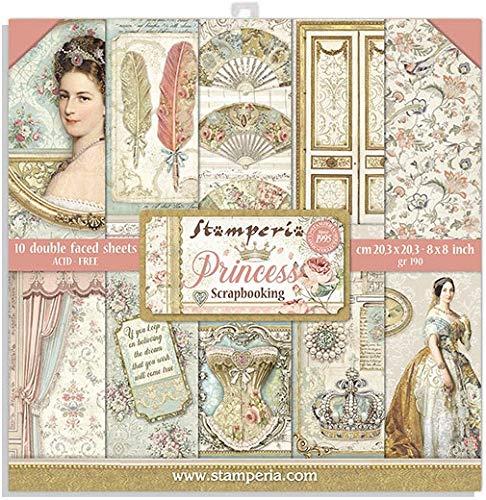 STAMPERIA Set de Scrapbooking Princess 20x20cm, Multicolor, talla única