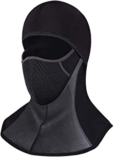 WHEEL UP Balaclava Ski Mask, Winter Warm Windproof Face Mask for Climbing Skiing Motorcycleing Ice Fishing, Breathable Skullies Beanies Outdoor Sports Hat Black