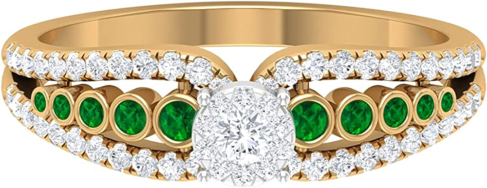 Ranking TOP2 April Birthstone All stores are sold - 1 2 CT Ring Side with Stone Engagement Diamon