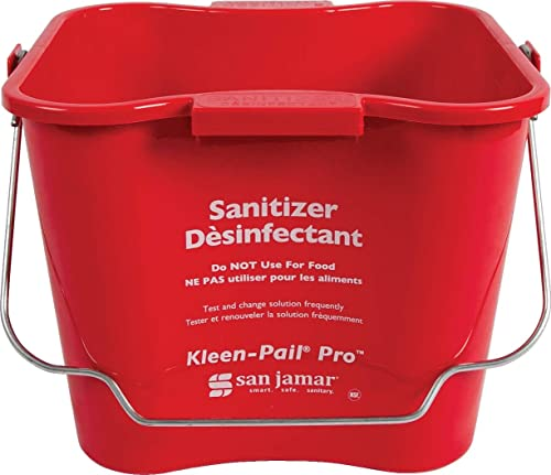 San Jamar KP256RD Kleen-Pail Commercial Cleaning Bucket, 8 Quart, Red