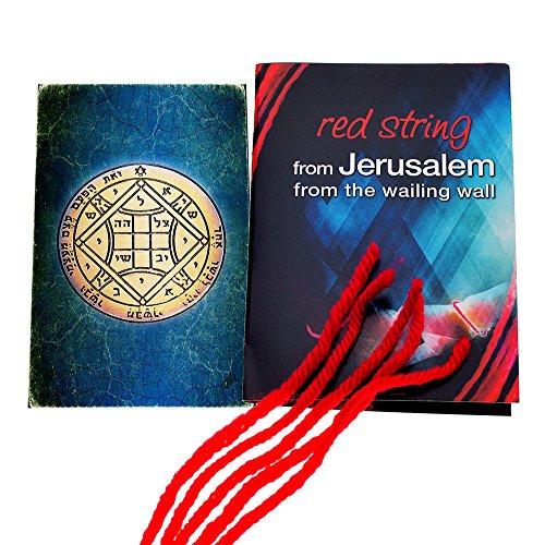 5 pulseras de cuerda roja de Cabalá bendecidas en Jerusalén con amuleto de protección y protección del rey Salomón