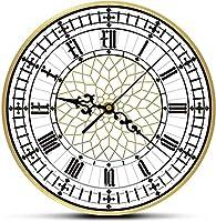 YQHLHT 壁掛けの装飾ビッグベン時計現代的なモダンな壁掛け時計レトロサイレントノンクチコミ腕時計イギリスの家の装飾イギリスロンドンギフト子供部屋のリビングルームに適したギフト 着陸ヌル