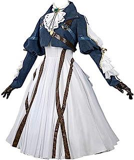 Nuoqi Violet Evergarden Cosplay Costume Womens Anime Uniforms Suit Dark Blue White