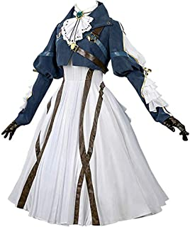 Violet Evergarden Cosplay Costume Womens Anime Uniforms Suit Dark Blue White