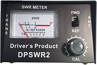 Driver's Product SWR Meter for CB Radio Antennas Heavy Duty Metal with SO-239 Input and Output - Black