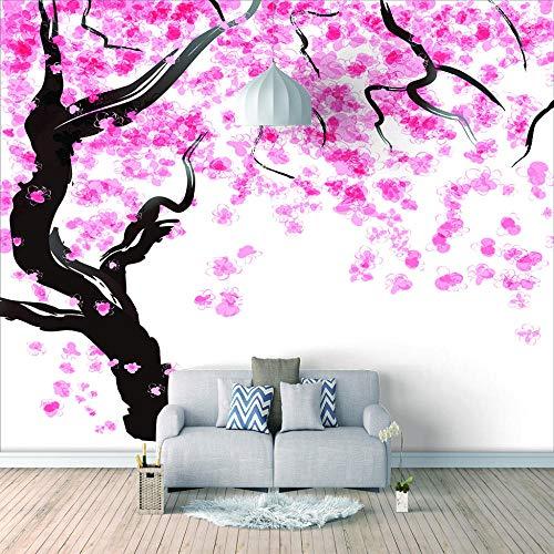 Bilder Leinwand Wandbild Wohnzimmer - Japanische Kirschblüte- Wandbilder 3D Natürliche Landschaft Modern Büro Kino Hotel Korridor Wandgemälde Für Schlafzimmer Wandtapete Fototapete 250X175Cm