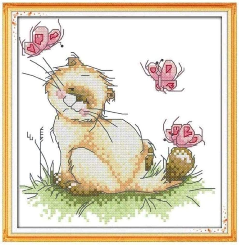 Stamped Cross Stitch Kits Ranking TOP19 Beginners But for Embroidery Adult 25% OFF Cat