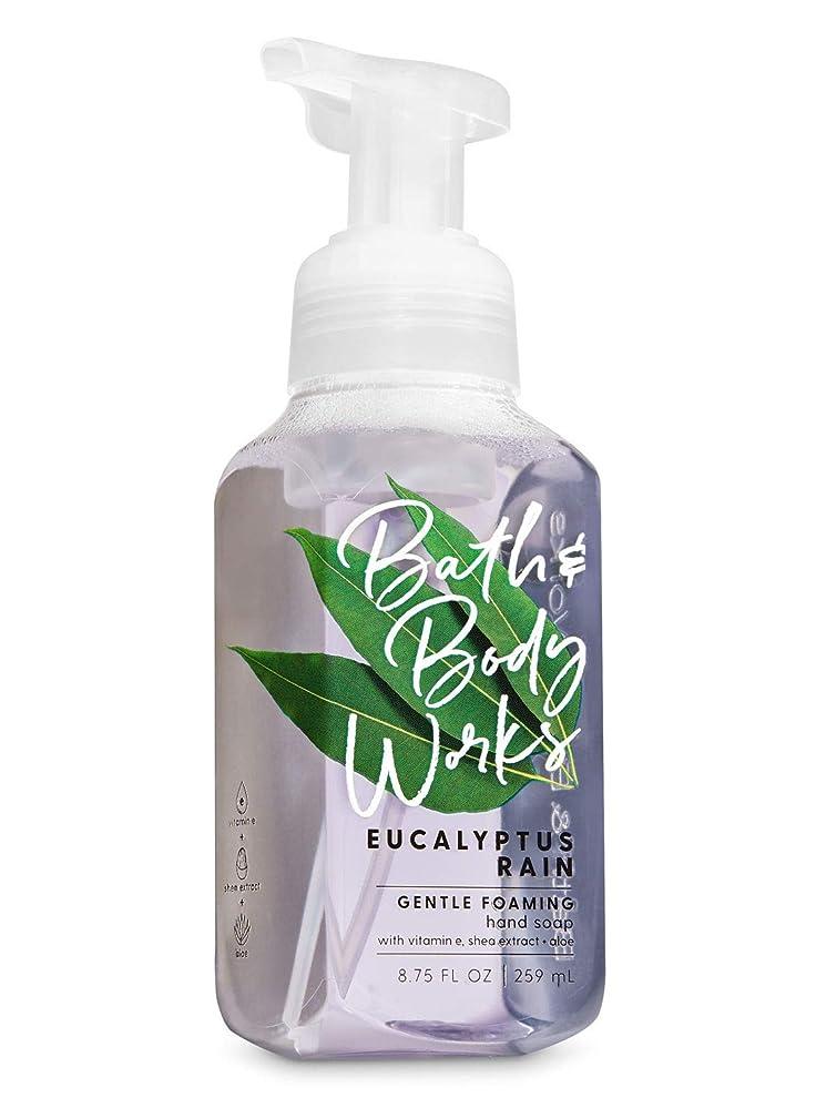 混乱させる端末寝るバス&ボディワークス ユーカリレイン ジェントル フォーミング ハンドソープ Eucalyptus Rain Gentle Foaming Hand Soap