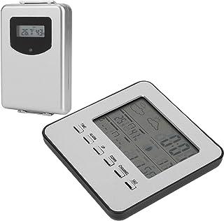 Temperaturfuktighetsmätare, termometer Hygrometer Batteripåminnelse för mätning av temperatur och fuktighet för väderrappo...