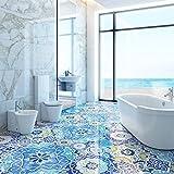 Ambiance-Live col-floor-RV-0551 Adesivo Piastrella per Pavimenti, Multicolore, 60 x 100 cm