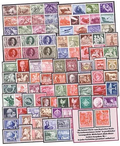 Goldhahn Deutsches Reich Nr. 810-910 postfrisch  Briefmarken für Sammler