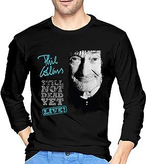 Phil Collins Cool Camisetas de algodón de Manga Larga para Hombre Regalos Negros