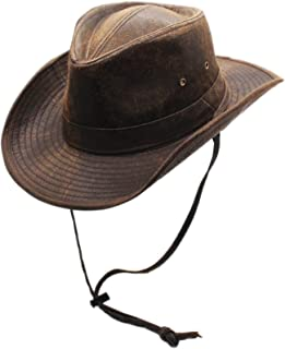 Weathered Outback Outdoorsmen Shapeable Hat, Silver Canyon, Brown