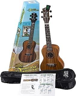 Luna Vintage Mahogany Concert Ukulele Pack with Tuner and Bag