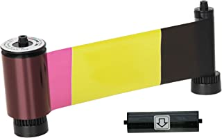 IDP SMART-31 and SMART-51 Series ID Card Printer Ribbon - YMCKOK Full-Color, Two Resin Black and Overlay Panels Ribbon wit...