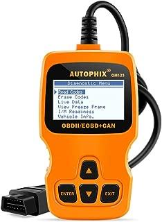 Autophix OM123 OBDii OBD2 Auto Diagnostic Code Reader Scan Tool Read & Clear Error Codes for All after 1996 OBDII Compliant US,EU,Asian Cars (Orange)