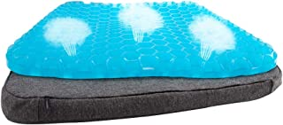 GALYGG Gel Seat Cushion Pad - Non Slip Chair Pad Cover Breathable Honeycomb Prevents Soft Sit Cushion Sweaty Bottom for Office Car Wheelchair (16.5 x 14.8 x 1.6 inches)