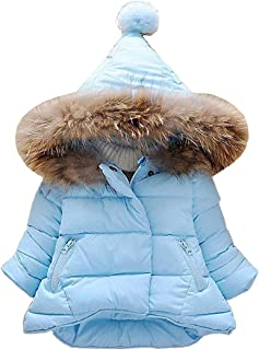 Danlaru Baby Girls Boys Winter Warm Jacket Hooded Snowsuit Windproof Coat Outerwear Soft Fur Hoodies FBA