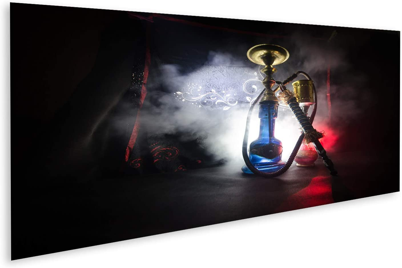 Cuadro en lienzo Hookah Hot Coals Shisha Bowl Negro de fondo Estilo Oriental Shisha Concept cuadros decoracion Impresión salon