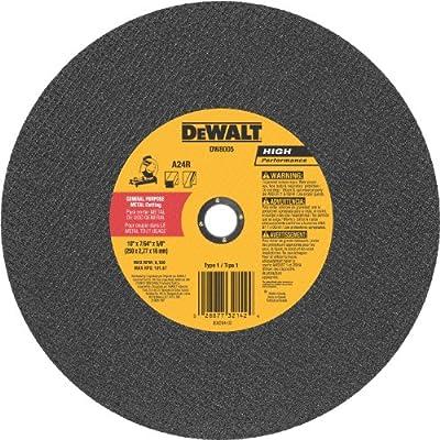 DeWalt DW8005 10 x 7/64 x 5/8 General Purpose Metal Chop Saw Wheel