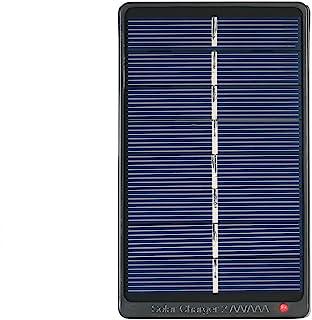Benkeg Zonnelader,2 * AA/AAA oplaadbare batterijen oplader Zonne-energie oplader 1W 4V zonnepaneel voor het opladen van ba...