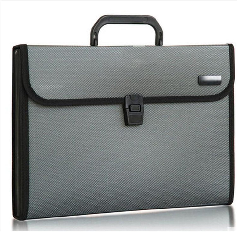Liu Yu·Büro-Raum, Büro Geschäft liefert grau A4-Datei-Paket 12 Raster Informationspaket Aktenkoffer B06XR7JN79 | Lebendige Form
