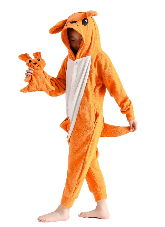 Unisex Kids Onesie Animal Pajamas One-Piece Cosplay Costume Halloween