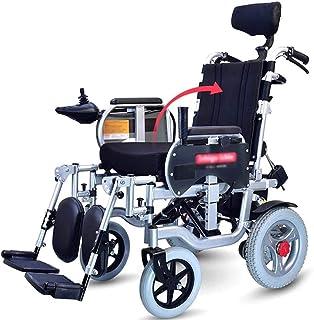 De peso ligero plegable sillas de ruedas eléctrica Silla de ruedas eléctrica con reposacabezas, plegable silla de ruedas eléctrica, plegable portátil, Asiento Ancho 45cm, el respaldo y el pedal se pue