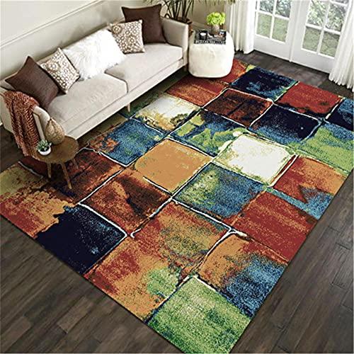 AU-SHTANG alfombras de habitacion Pelo Corto Alfombra de TAW, Patrón de Gerive Tinta, Mesa de té Suave de Moda Alfombra a Prueba de Humedad alfombras de Pasillo -Broncearse_50x80cm