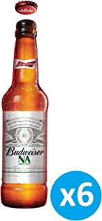 """Budweiser Apple Flavour """"Non Alcoholic"""" Beer - 355 ml (Pack of 6)"""