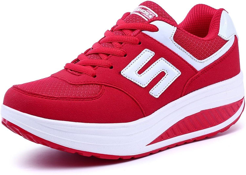 Edv0d2v266 Women Girls Shape Ups Breathable Lightweight Shake Rocker shoes Slip On Fitness Toning Walking Sneakers Wedges