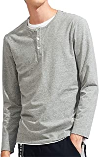 Pioneer Camp 長袖 ヘンリーネック Tシャツ メンズ カットソー ボタン付き インナー 無地 ロンT メンズ Tシャツ おしゃれ 長袖Tシャツ